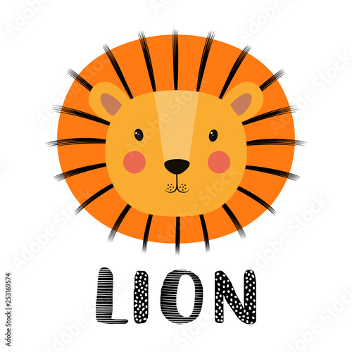 Photo Stands Illustrations funny kids print lion