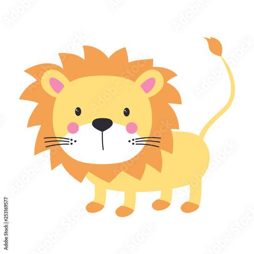 funny kids print lion