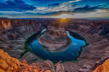 Scenic Sunset Horseshoe Bend, Arizona