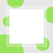 Empty Banner Frame Polka Dot G...