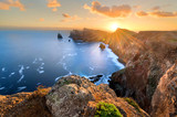Fototapeta Sunset - Landscape of Madeira island - Ponta de sao Lourenco