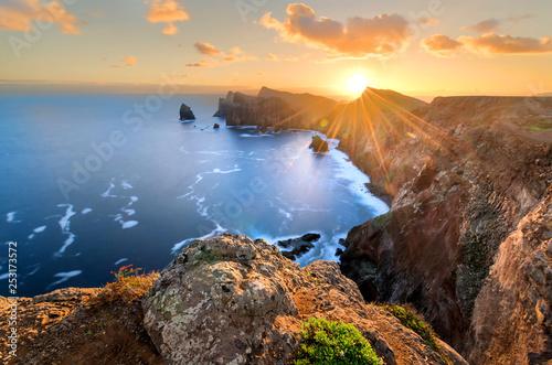 Poster Mer coucher du soleil Landscape of Madeira island - Ponta de sao Lourenco