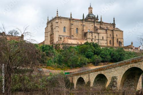 Cathedral of Santa Maria de la Asuncion in Coria, Caceres, Extremadura, Spain Canvas Print