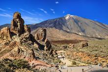 Teide Volcano And Roques De Garcia