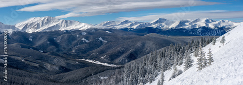 Photo  Panoramic View Looking Toward Breckenridge from Keystone's South Bowl in Colorad