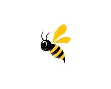Bee Logo Vector Icon Illustrat...