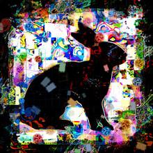 Abstraktes Design Eines Hasen