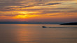 Sunset on the St. Lawrence River from Kamouraska, Quebec