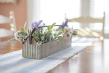 Spring Floral Arrangement On D...