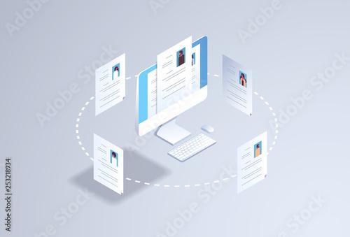 Obraz na plátně curriculum vitae recruitment candidate job position hr personnel hiring concept