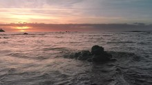 Aerial Shot. Sunrise Over The ...
