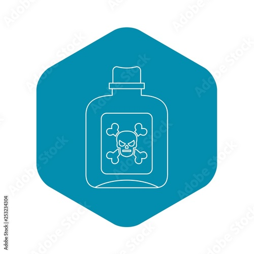 Fotografía  Poison icon. Outline illustration of poison vector icon for web