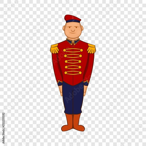 Fotografie, Obraz  Man wearing army uniform 19th century icon in cartoon style on a background for