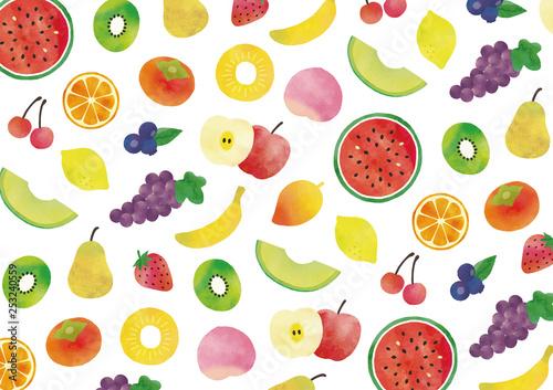 フルーツ水彩テクスチャ