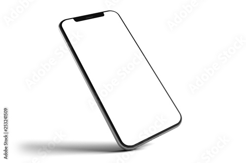Foto  Isolated Smartphone Mockup - 3d rendering