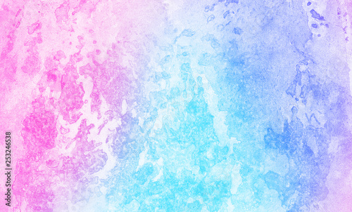 Frost Textured Pastel Light Blue Purple And Pink Shades Watercolor Background Grunge Aquarelle Paint Paper Canvas For Design Vintage Card Template Multicolor Gradient Handmade Illustration Buy This Stock Illustration And Explore
