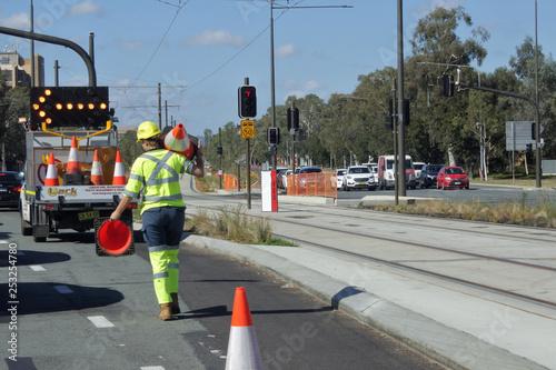 Australian woman road worker Fototapeta