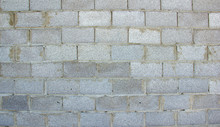 Wall Of Gray Blocks Untreated ...