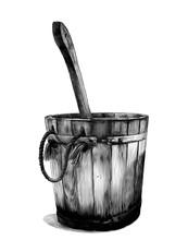 Wooden Bath Bucket With Bucket...