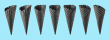 Various Ice Cream Cones Isolat...
