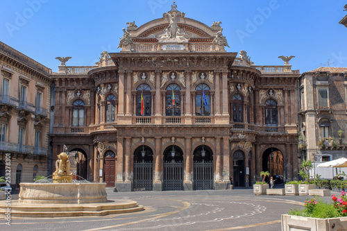 Catania, Italy. Ancient port city of Sicily. It is located at the foot of Mount Etna. Splendid its Cathedral of Sant'Agata, the Bellini Theater and the famous square with the elephant.