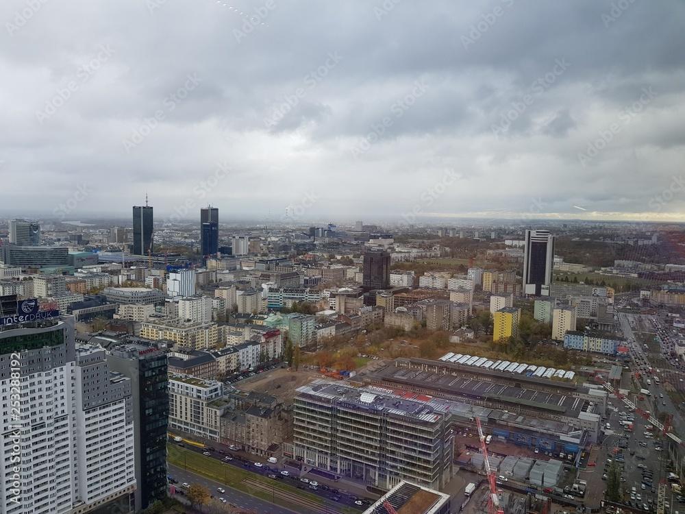 Fototapety, obrazy: Panorama Warszawy z okien jednego z warszawskich biurowców