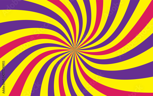 Sunshine Colorful Vector Background Abstract Purple Yellow