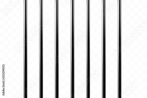 Realistic metal prison grilles Canvas-taulu