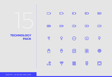 Vector Line Icons Technology Pack