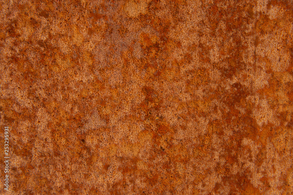 Fototapety, obrazy: Old Distressed Brown Terracotta Copper Rusty Stone Background with Rough Texture Multicolored Inclusions. Stained Gradient Coarse Grainy Surface