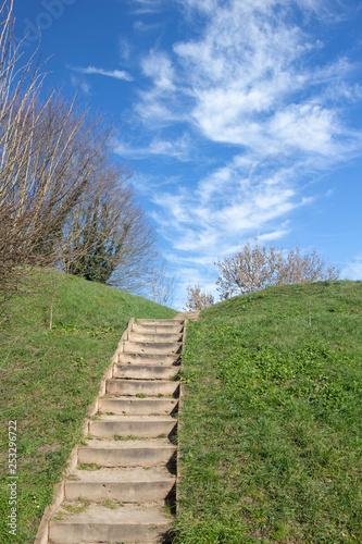 Canvas Print Steps in Bergues, Nord Pas de Calais, France