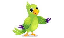 Parrot Cartoon Vector Illustra...