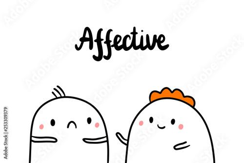 Fotografie, Obraz  Affective psychopathy hand drawn illustration with cute marshmallows