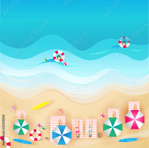Photo Stands Turquoise vector illustration of a landscape