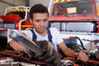 auto mechanic with wrench