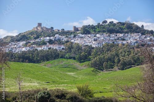 Obraz Jimena de la Frontera from exit road, Cadiz, Spain - fototapety do salonu