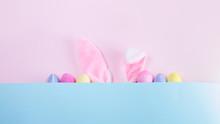 Easter Scene With Rabbit Ears