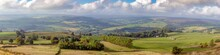 Large Panorama Of Yorkshire Countryside In Spring