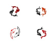 Koi Fish Icon. Underwater. Eas...