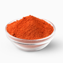 Red Paprika Powder Isolated On White Background