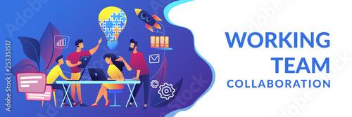 Collaboration concept banner header. Canvas-taulu