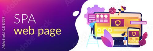 Fotografía  Single page application concept banner header.