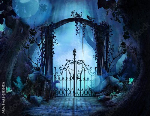 Archway in an enchanted garden Wallpaper Mural