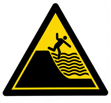 Danger Of Drowning Sign, With ...