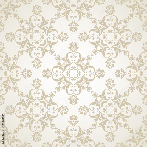 Vector Light Wedding Background Seamless Abstract Pattern