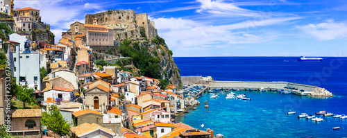 best of Calabria , scenic Scilla coastal town . Italy
