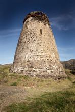 Old Stone Watchtower In Almunecar Spain