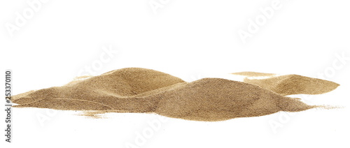 Tablou Canvas Pile desert sand dune isolated on white background, clipping path
