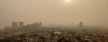 Severe Delhi Air Pollution As Seen From A Tall Building Day After Diwali