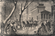 The Emperor At The Brandenburg Gate. - Illustration, Berlin, Germany, 1870-1879, 19th Century, 19th Century Style